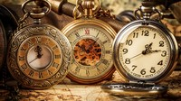 Three antique pocket watches