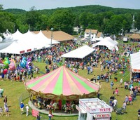 Birds eye view of a country fair
