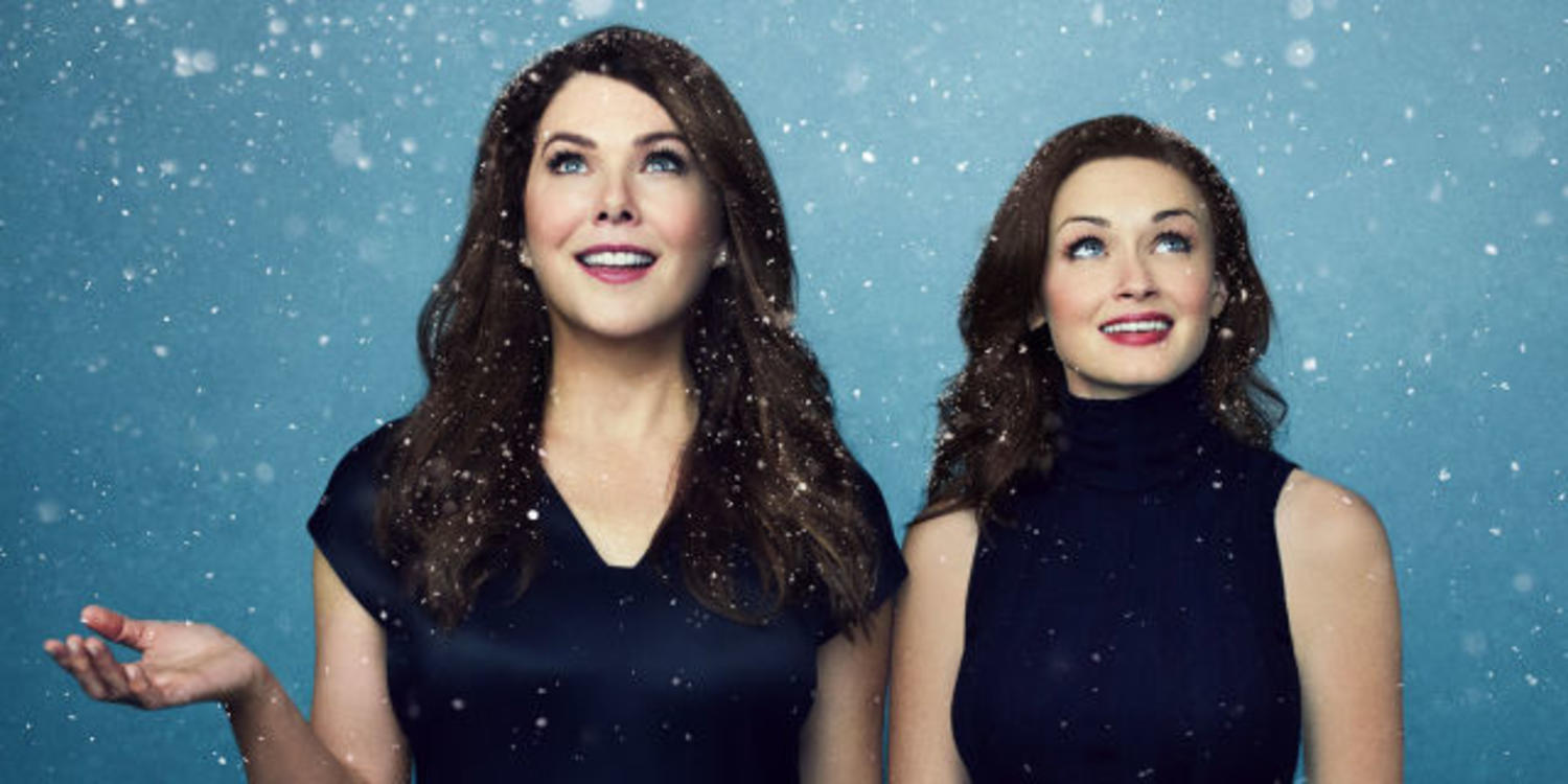 Lorelei and Rory Gilmore in the snow