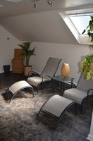 wellness area with relaxing chairs