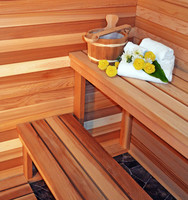 wellness area with traditional sauna